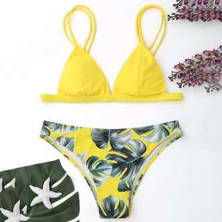 Yellow Triangle Swimsuit