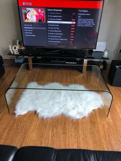 Nick Scali curve glass coffee table