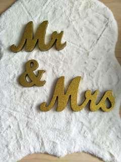 Wedding decor - Mr & Mrs