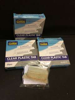 Clear Plastic Tab for file folder