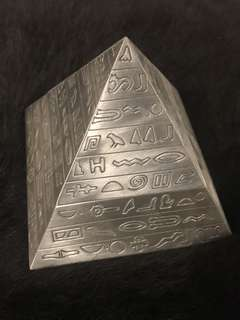 Pyramid Shaped With Alien Language Engraved Ashtray