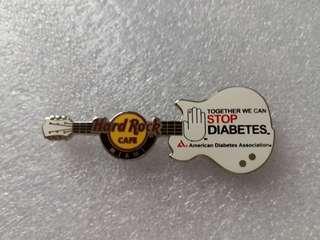 Hard Rock Cafe Pins ~ MIAMI HOT 2012 HRC STOP DIABETES GUITAR PIN!