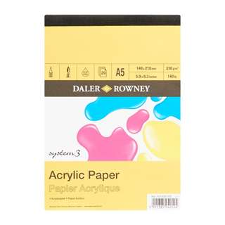 Daler Rowney System 3 Acrylic Paper Pad A5 Acid Free 230 gsm