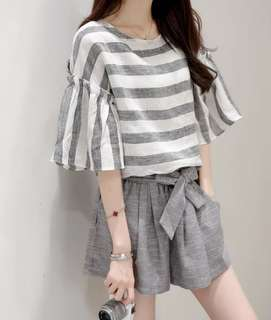 (PO) Two-piece Grey Casual Set