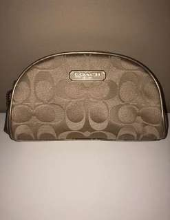 Coach Gold Signature Makeup Bag