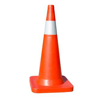30inches road safety traffic cone sand base