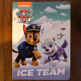 $4 BN Paw Patrol Ice Team board book