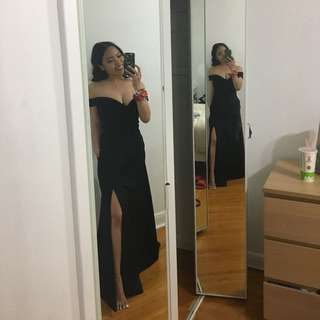 SIMPLE BLACK PROM DRESS
