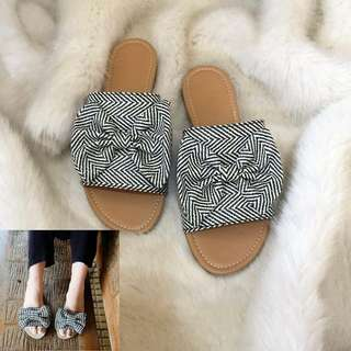 Double Tie Ribbon Sandals