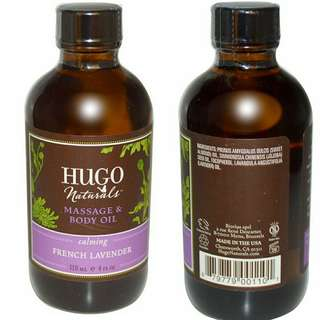 Hugo Naturals 法國薰衣草按摩油 French Lavender Massage & Body Oil