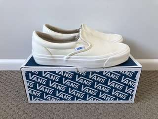 White Slip On Vans