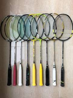 多款羽毛球拍 Yonex babolat badminton rackets