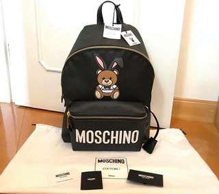 Moschino 2018SS playboy 大size backpack 背包