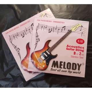 Senar gitar akustik (Acoustics Guitar Strings) MELODY - B or 2nd Stainless Steel