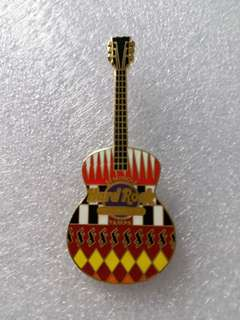 Hard Rock Cafe Pins ~ TAMPA HOTEL & CASINO HOT 2012 TRIBAL PATTERN GUITAR PIN!