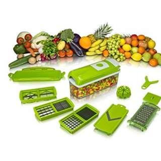 Alat Pemotong Buah Dan Sayur Multifungsi ada 11 Mata Pisau