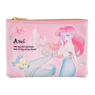日本 Disney Store 直送 The Little Mermaid 小魚仙 Ariel & Flounder 散紙包 / 銀包仔連紙巾套