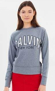 Calvin Klein Flocked Logo Sweatshirt