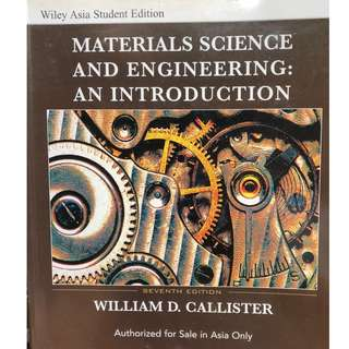 Materials Science and Engineering: An Introduction, Asia Student Edition, 7th Edition