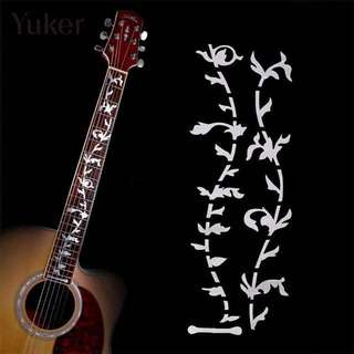Reflective Decal Guitar Or Bass Tree Of Life Fretboard Silver Color Inlay Ultra Thin Sticker