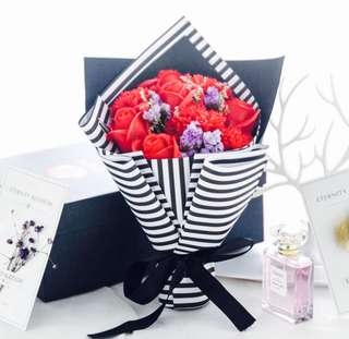 Luxury Modern Soap Roses Bouquet with Box