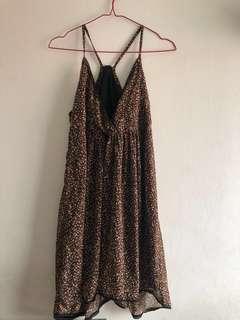 Sale Dress  V neck brown. Yuu mampir lagi clearens sale
