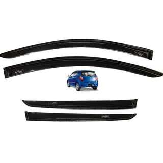 Toyota Wigo 2014 to 2018 Rain Guard Window Sun Visor Aeromax Plain Black Titanium Series