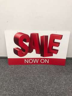 Big SALE NOW ON Sign