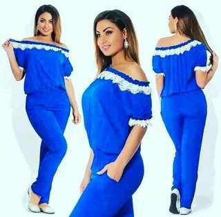 Royal Blue Jumpsuit - PLUS SIZE
