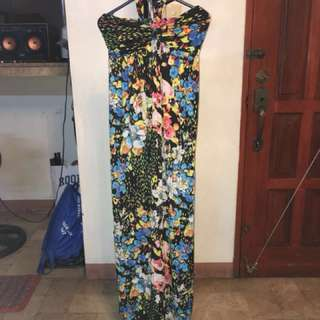 ✳️ Maxi haltered floral Dress