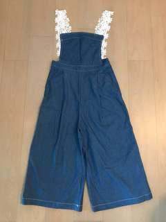 Lace吊帶牛仔jumpsuit