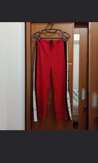 Bangkok red training pants