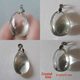 🎆Special Offer✨Very nice Chlorine quartz(Green phantom) pendant(绿幽灵吊坠).