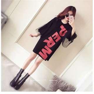 Korean Giant Letter Dress
