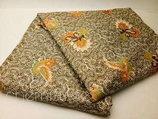 Kain batik rayon hijau halus