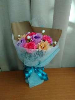 Handmade plastic bouquet