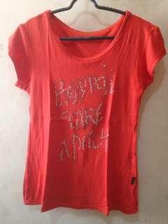 Kaos Merah Bling Bling