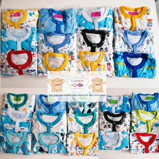 📮Free Mailing• 3pcs Integrated mittens newborn baby sleepsuits onesie romper Boy girl •