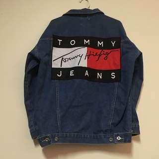 Tommy Hilfiger oversized denim jacket - dark wash