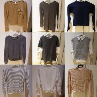 Knitted Sweaters Pullovers