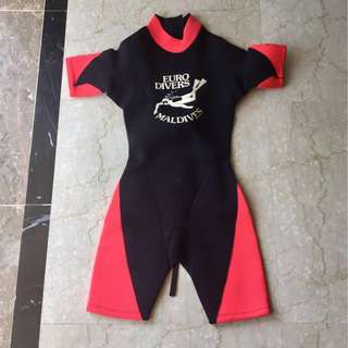 Euro divers wetsuit shorty 3mm- XS Female
