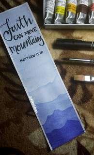 Watercolor Bookmark (Matthew 17:20)