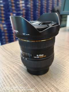 SIGMA Wide Lens 10-20mm DC HSM