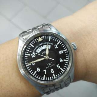IWC-- TZC Automatic--Universal Time Coordinated 自動鋼帶表 ( Not Rolex Tudor Omega Tag Heuer )