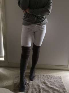 Lipstik grey over the knee boots 6/37 (BNIB)