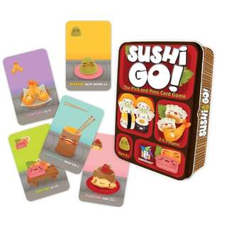 Original Sushi Go - The Pick and Pass Card Game Tin Can Box