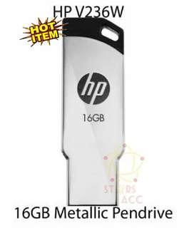 ORIGINAL.. Flashdisk HP V236W 16 GB Metal Silver