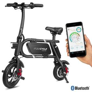 [IN-STOCK] SwagCycle Pro Folding Electric Bike, Pedal Free and App Enabled, 18 MPH E Bike with USB Port to Charge on the Go