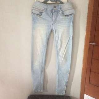 skinny jeans ankle zip