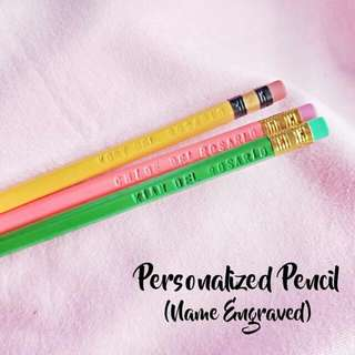 PERSONALIZED PENCIL name engraved